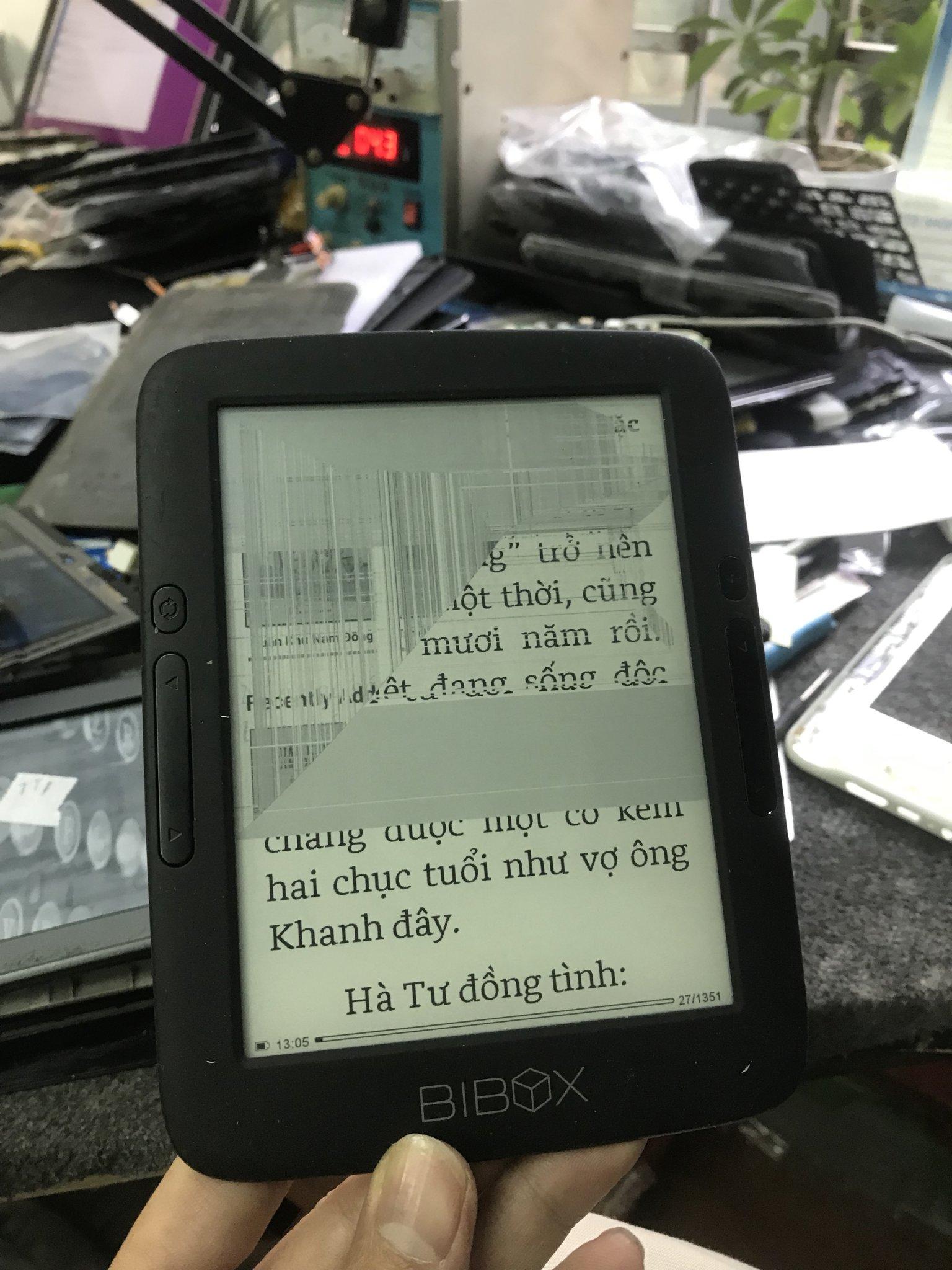 Thay màn hình máy đọc sách Bibox